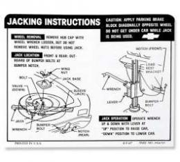 Chevelle Jacking Instructions (Exc SS), 1968-1969