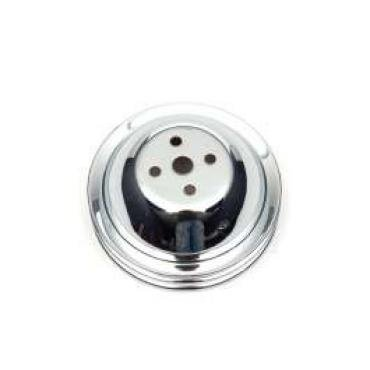Chevelle Water Pump Pulley, Big Block, Double Groove, Chrome, 1965-1968
