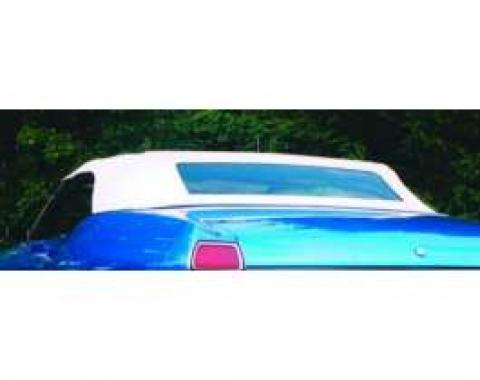 Chevelle Convertible Top, White, With Black Lining, 1968-1972
