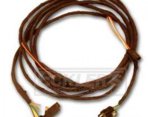 Chevelle Rear Body Wiring Harness, Intermediate, 2-Door Coupe, Dash To Quarter Panel, 1970-1972