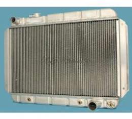 Chevelle Radiator, 25 Core, Unpolished Aluminum, For Cars With Automatic Transmission, U.S. Radiator, 1964-1967