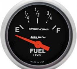 Chevelle Gas Gauge, 0-30 Ohm, Sport-Comp Series, Auto Meter, 1964-1972