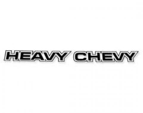Chevelle Decal, Heavy Chevy, Body Decal, Black, 1971-1972