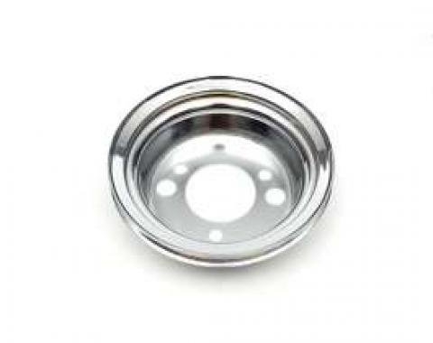 Chevelle Crankshaft Pulley, Small Or Big Block, Single Groove, Add-On, Chrome, 1965-1968