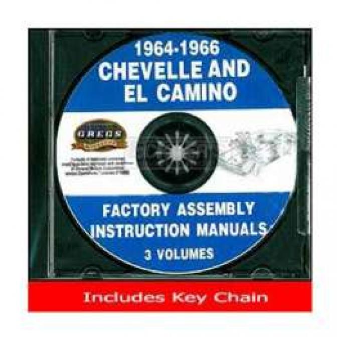 Chevelle Factory Assembly Instructions Manual, On CD, 1964- 1966