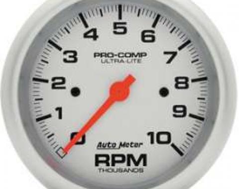 Chevelle Tachometer, In-Dash Mount, 10,000 RPM, Ultra-Lite Series, AutoMeter, 1964-1972