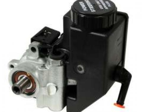 Chevelle & Malibu Power Steering Pump, Type II, Plain Cast Iron Housing, With Integral Reservoir, 1964-1983