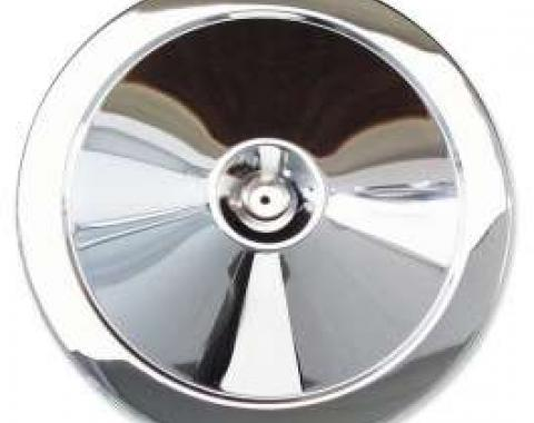 Chevelle Air Cleaner Top, Open Element, 14 Diameter, Chrome, 1964-1972