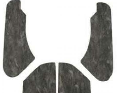 Chevelle Hood Insulation Pads, For Cars With Cowl Induction& Functional Flapper, 1970-1972