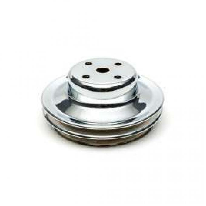 Chevelle Water Pump Pulley, Big Block, Double Groove, Chrome, 1969-1972