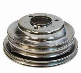 Chevelle Crankshaft Pulley, Big Block, Triple Groove, Chrome, 1969-1972