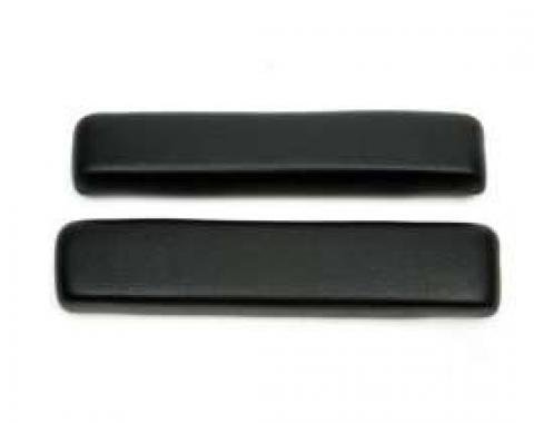 Chevelle Armrest Pads, Front, Black, For All Body Styles, 1964