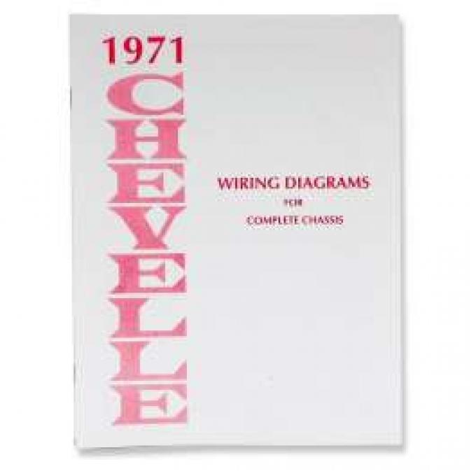 Chevelle Literature, Chevelle Wiring Diagram Manual, 1971