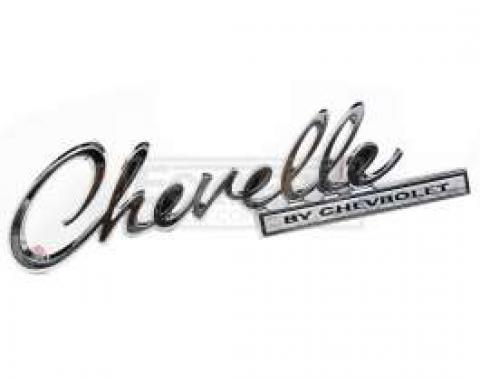 Chevelle Trunk Emblem, Chevelle By Chevrolet, 1969