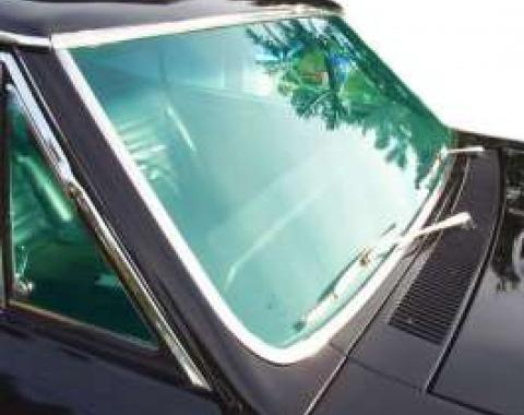 Chevelle Windshield, 2-Door Coupe & Convertible, Tinted, 1966-1967