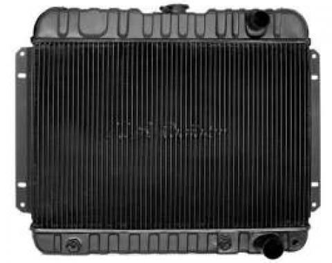 Chevelle Radiator, Small Block, 4-Row, Straight Outlet, For Cars With Automatic Transmission & Without Air Conditioning, Desert Cooler, U.S. Radiator, 1964-1965