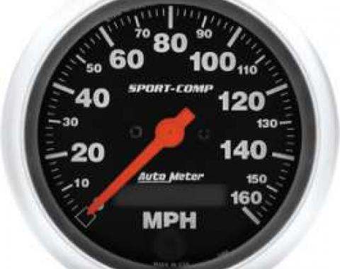 Chevelle Speedometer, Electric, 160 MPH, Sport-Comp Series, AutoMeter, 1964-1972