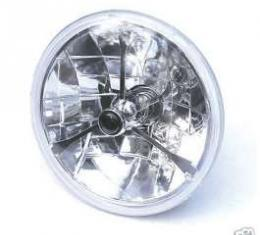Chevelle Headlights, Tri-Bar H-4 Halogen, Black Dot, 1971-1975