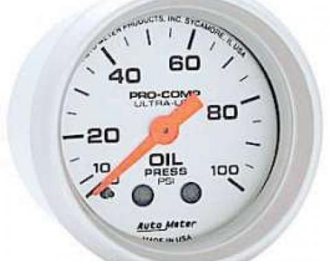 Chevelle Oil Pressure Gauge, Mechanical, Ultra-Lite Series, Autometer, 1964-1972