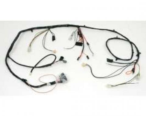 Chevelle Front Light Wiring Harness, Small Or Big Block, For Cars With Factory Gauges, 1968