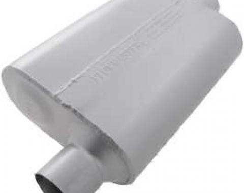 Chevelle Muffler, 2.5, Offset In/Center Out, 50 Series Flow, Flowmaster, 1964-1972