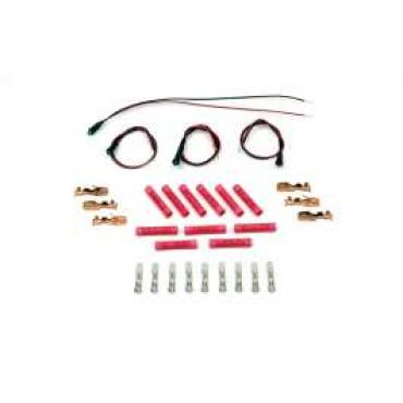 Chevelle Instrument Cluster Panel LED Indicators & Wiring Terminal Kit, 1964-1972