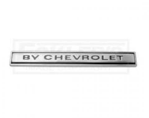 Chevelle Header Panel Emblem, By Chevrolet, 1969