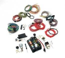 Chevelle Custom Car Wiring Harness Kit, Modular Panel, 22-Circuit, Highway 22, American Autowire, 1964-1972