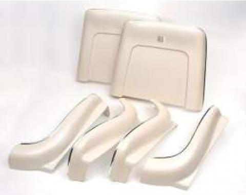 Chevelle Seat Back & Side Panel Set, Bucket, 2-Door Coupe &Convertible, Pearl, 1970