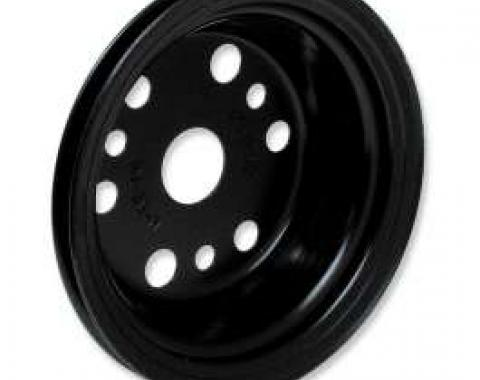 Chevelle Crankshaft Pulley, Small Block, Single Groove, Black, For Cars With Power Steering, 1964-1968