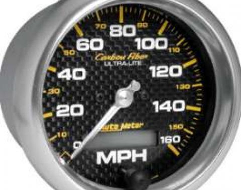 Chevelle Speedometer, Electric, 160 MPH, Carbon Fiber Series, AutoMeter, 1964-1972