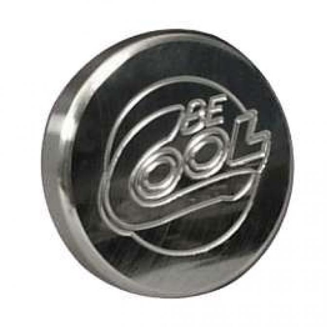 Chevelle Radiator Cap, Billet, Round, Polished Finish, Be Cool