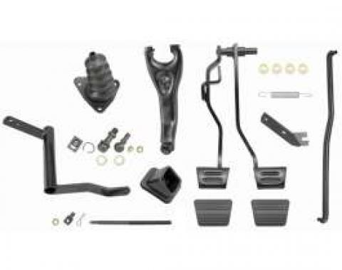 Chevelle Clutch Linkage Conversion Kit, Automatic To Manual Transmission, Small Or Big Block, 1968-1972