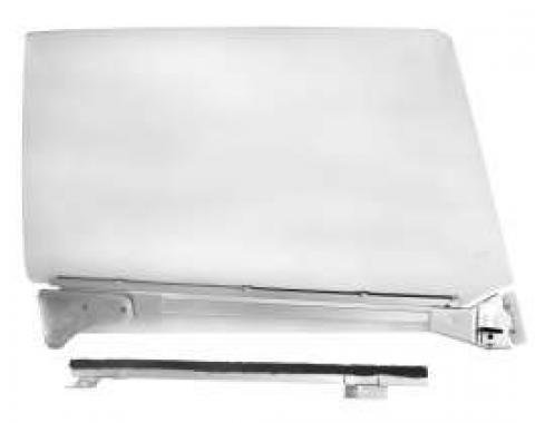 Chevelle Door Glass Assembly, Clear, Left, 2-Door Coupe, 1966-1967