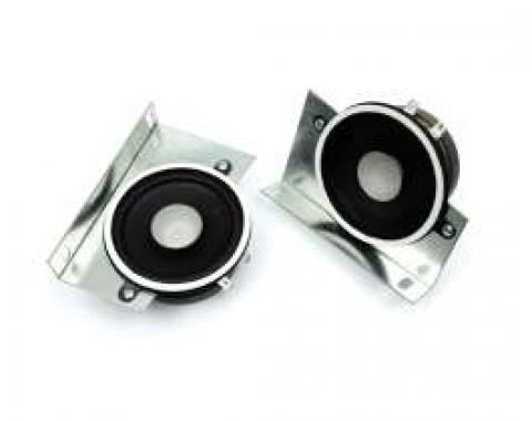 Chevelle Speakers, Dual Front, 50 Watt, For Cars With Factory Stereo Radio, 1970-1972