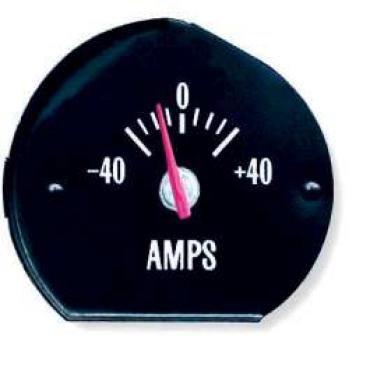 Chevelle Amp Gauge, With Green Numbers, Super Sport (SS), 1970