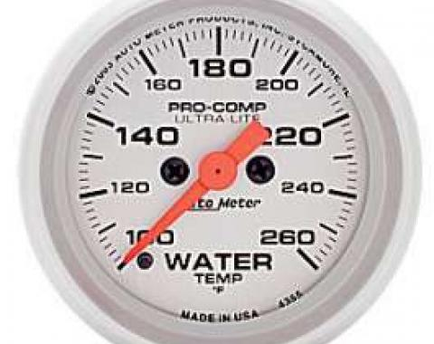 Chevelle Water Temperature Gauge, Electric, Ultra-Lite Series, AutoMeter. 1964-1972
