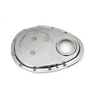 Chevelle Timing Chain Cover, Small Block, Polished Aluminum, 1964-1972