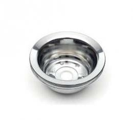 Chevelle Crankshaft Pulley, Small Block, Single Groove, Chrome, 1969-1972