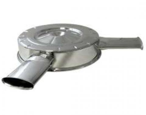 Chevelle Air Cleaner Top, 327/350HP L79, Chrome, With Dual Oval Air Inlets, 1965