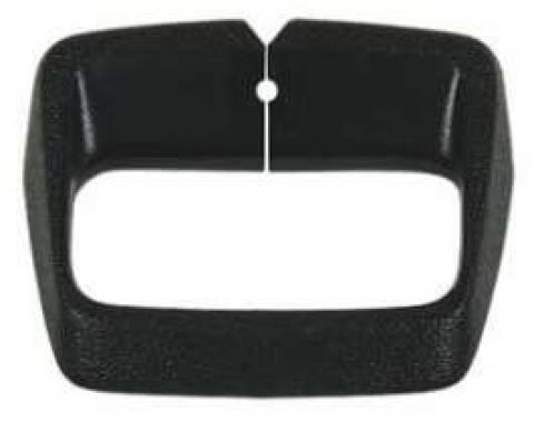 Chevelle Shoulder Belt Guide, Black, 1974-1977