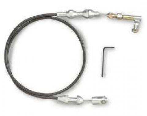 Chevelle Throttle Cable Assembly, 24 Long, Black, Hi-Tech, Lokar, 1964-1972