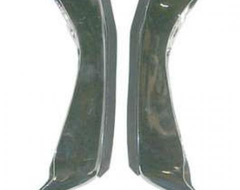 Chevelle Bumper Guards, Rear With Cushions, 1971-1972