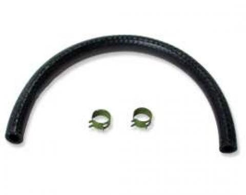 Chevelle Fuel Hose, Frame To Fuel Pump, 3/8, With Green Pinch Style Clamps, 1966-1969
