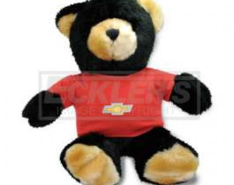 Chevy Themed Plush Stuffed Black Teddy Bear