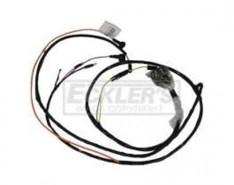 Chevelle Engine Wiring Harness, 6 Cylinder, For Cars With Warning Lights, 1965-1966
