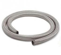 Chevelle Heater Hose, Sleeved, Stainless Steel, 5/8 x 6'