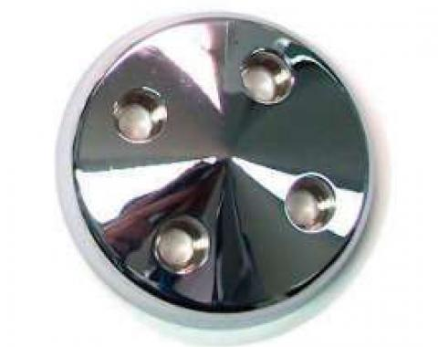 Chevelle Water Pump Pulley Nose, Polished Billet Aluminum, For Cars With Short Water Pump, 1964-1968