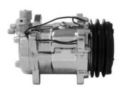 Chevelle Air Conditioning Compressor, Chrome, Sanden 508/134A, 1964-1983