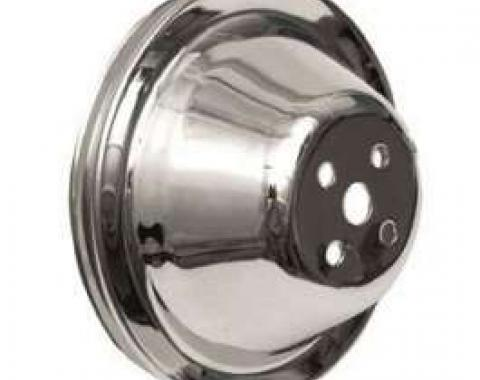 Chevelle Water Pump Pulley, Small Block, Single Groove, Chrome, 1964-1968